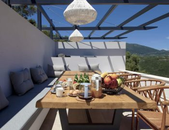 villa sky sivota lefkada greece outdoor dining table with breakfast