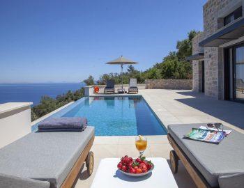 villa sky sivota lefkada greece private pool with sun loungers