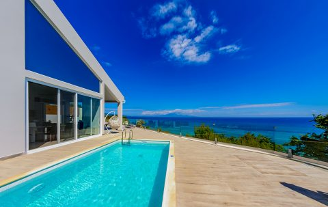 villa thalassa zakynthos greece private pool with ocean view