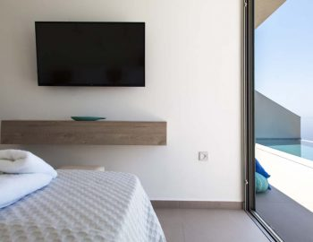 villa-valentina-sivota-cave-style-thesprotias-tv-bedroom-double-bed-view