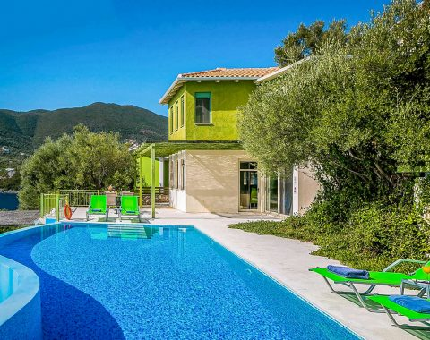 villa votsalo in sivota lefkada with private pool and sea view