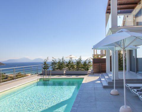 villa offwhite in vasiliki lefkada with private pool and sea view